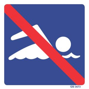 No Swimming Allowed Sign 240mm x 240mm