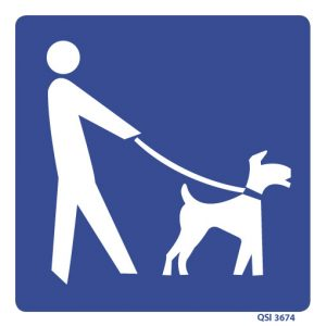 Dogs Allowed Sign 240mm x 240mm