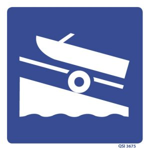 Boat Ramp Sign 240mm x 240mm