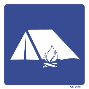 Camping Allowed Sign 240mm x 240mm