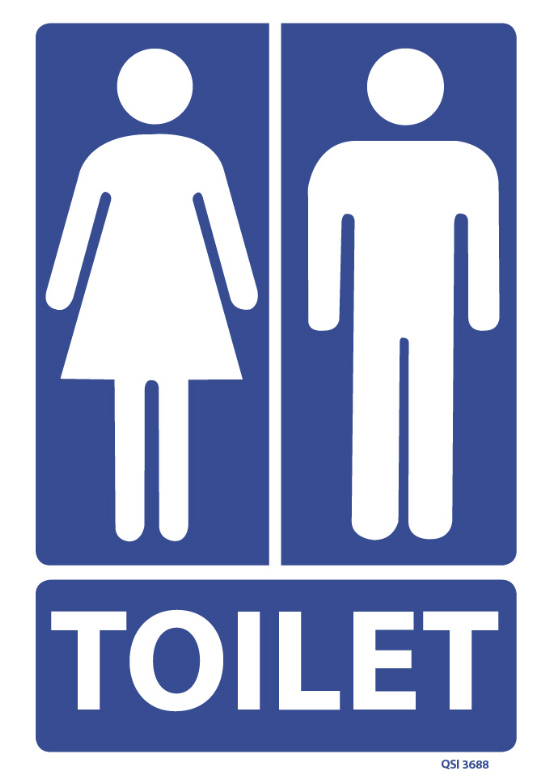 Unisex Toilet Sign Industrial Signs