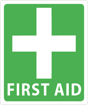 First Aid Cross Self Adhesive 105mm x 125mm