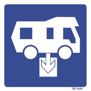 Camper Van Effluent Disposal Sign