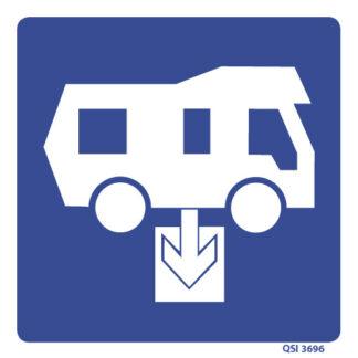 Camper Van Effluent Disposal Sign