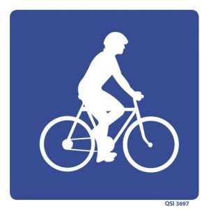 Cyclists 240mm x 240mm Blue