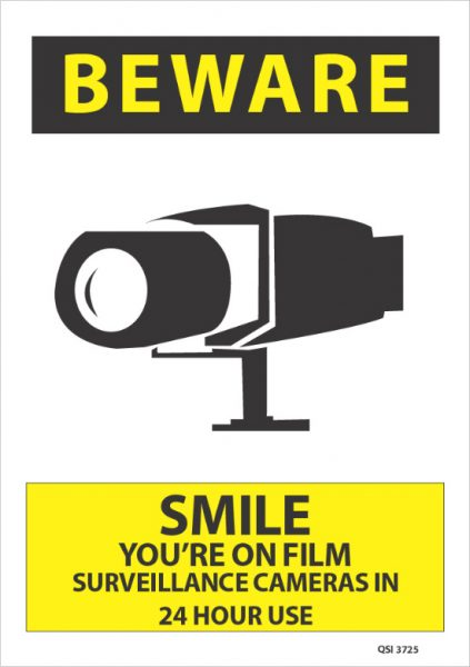 Beware Smile You Are On Film Surveillance Cameras