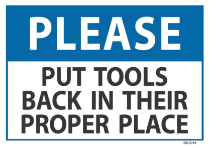 Please Put Tools Back