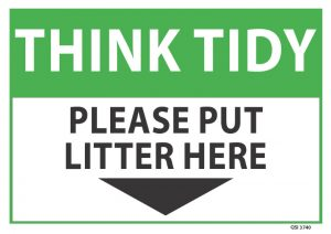 Think Tidy Please Put Litter Here