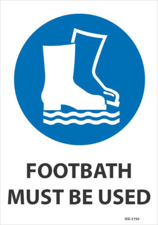 footbath must be used