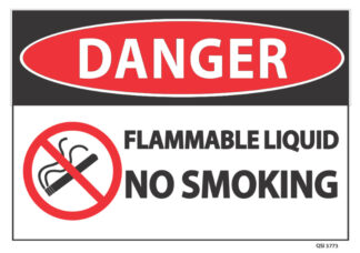 Flammable liquid No Smoking