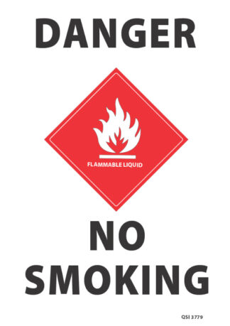 Danger No Smoking Flammable Liquid