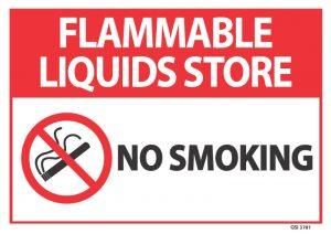 Flammable Liquids Store No Smoking