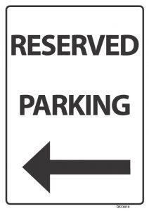 Reserved Parking Black