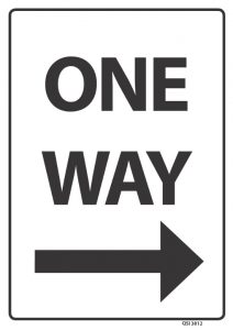 One Way Arrow Right Black