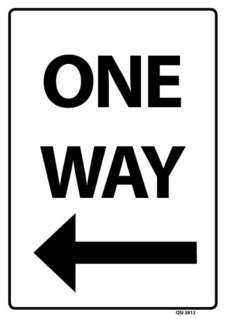 One Way Arrow Left Black