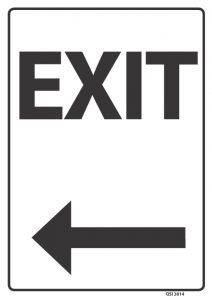 Exit Arrow Left Black