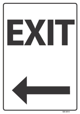 Exit Arrow Left Black