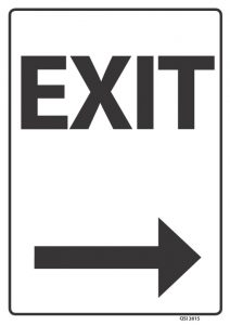 Exit Arrow Right Black