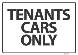 Tenants Cars Only