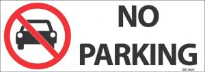 No Parking 340mm x 120mm