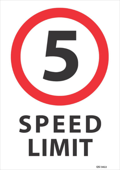 5KMPH Speed Limit Sign