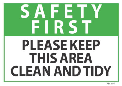 safety first please keep this area