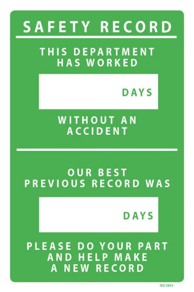 Safety Record Department