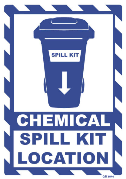 Chemical Spill Kit Location Sign