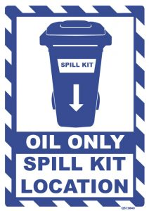 Oil Only Spill Kit Location Sign
