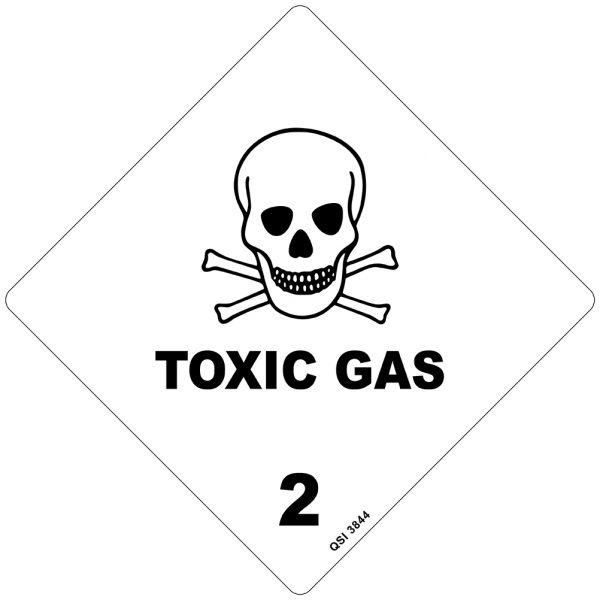 Toxic Gas 2 Sign 250mm x 250mm