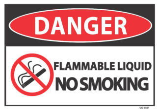 danger flammable liquid no smoking