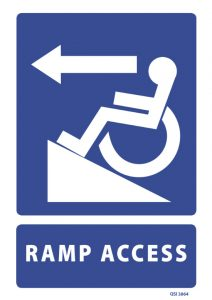 Ramp Access Left Arrow
