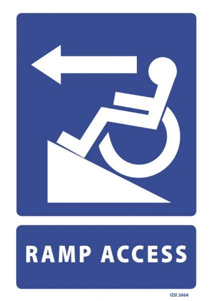 Ramp Access Left Arrow