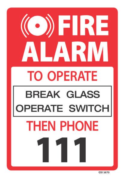 fire alarm break glass operate switch