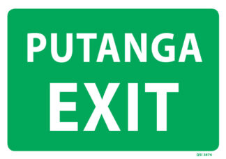 Large Putanga Exit Sign