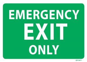 Large Emergency Exit Only Sign