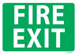 Large fire Exit Sign