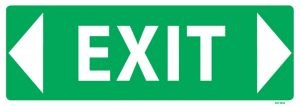 Exit Sign Arrow Both Ways