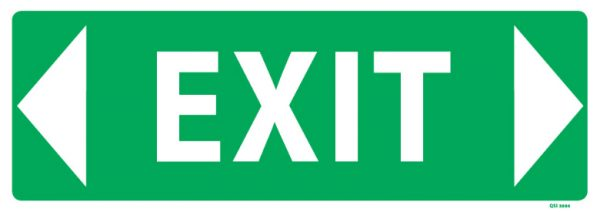 Exit Sign Arrow Both Ways Industrial Signs