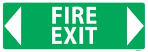 Fire Exit Arrow Both Ways