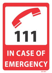 in case of emergency dial 111
