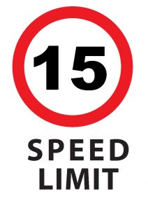 15KMPH Speed Limit Sign