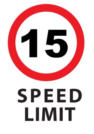 15KMPH Speed Limit Sign