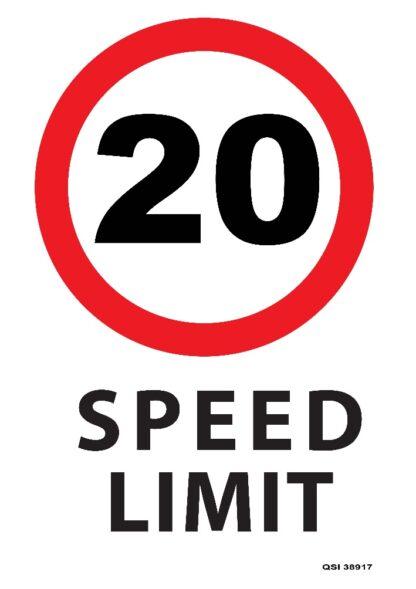20KMPH Speed Limit Sign