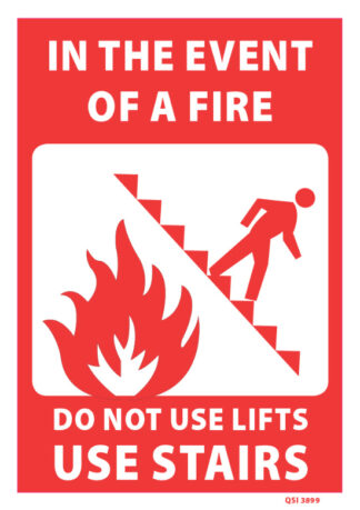 in the event of a fire