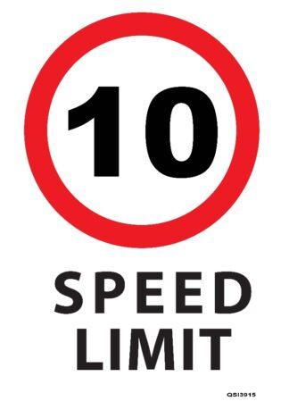 10KMPH Speed Limit Sign