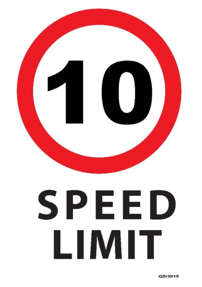 10KMPH Speed Limit Sign