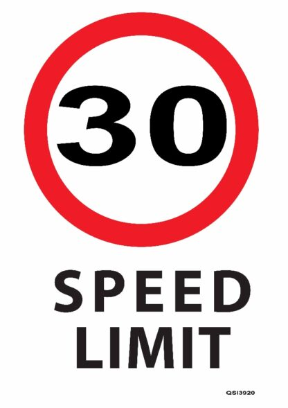 30KMPH Speed Limit Sign