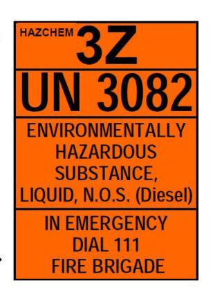 Hazchem Diesel 3Z UN 3082