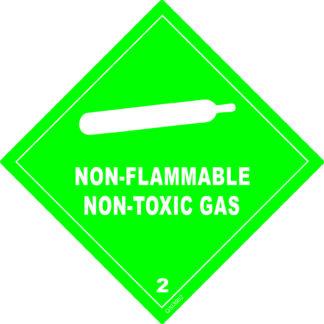 Non-Flammable Non-Toxic Gas Sign